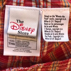 Disney Bottoms - Disney Winnie the Pooh Plaid Overall Shorts Baby
